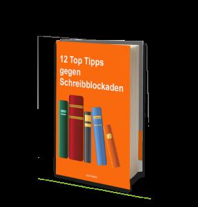 Kostenloses E-Book 12 Tipps gegen Schreibblockaden